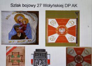 """""""Szlak bojowy 27 Wołyńskiej Dywizji Piechoty AK"""" - lekcja biblioteczna w kl. VII-VIII ZSP w Malechowie"""