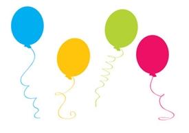 ikona dekoracyjna balony