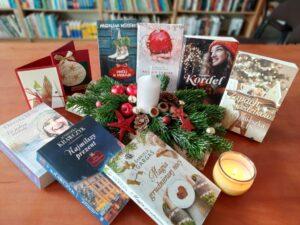 Zbiór książek o tematyce zimowo świątecznej